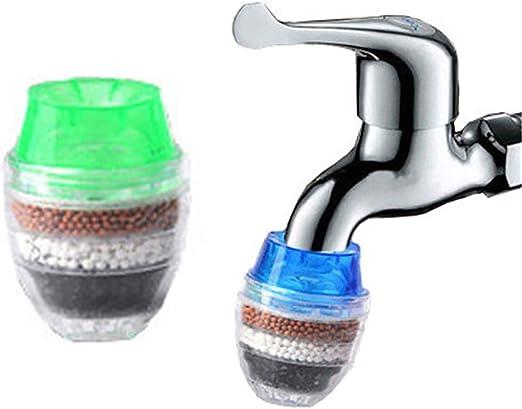 ShiyiUP 2pcs Purificador de Agua para Grifo Filtro de Carbón ...