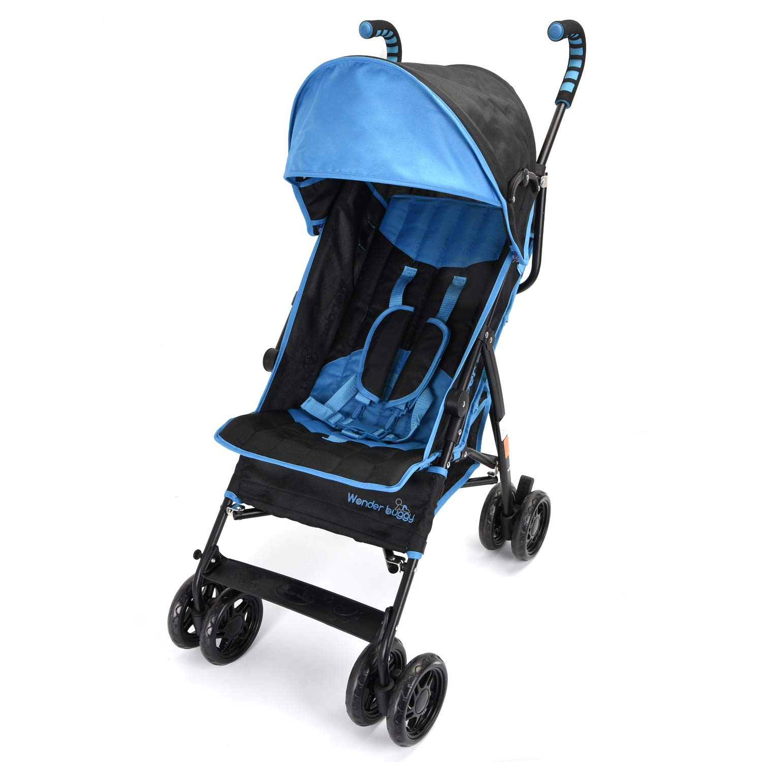 Wonder buggy Umbrella Strollers Lightweight, Baby Stroller with Large Canopy Rounded Hood and Basket, Mulit Position Foldable Infant Baby Travel Stroller Lightweight Teal Blue