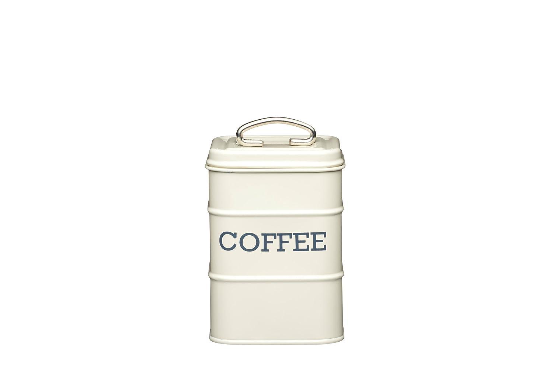 KitchenCraft Living Nostalgia Vintage Metal Coffee Storage Tin in Cream LNCOFFEECRE
