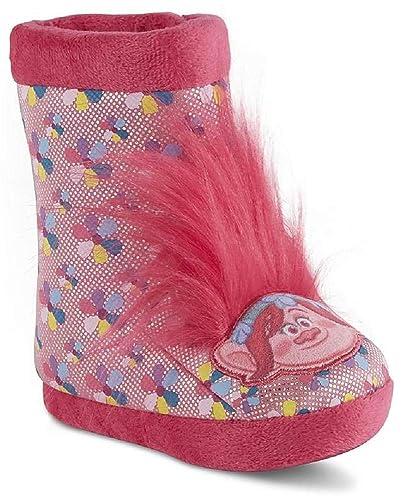 dd61bcf86 Dreamwork Girl's Trolls Slippers (9-10 M US Toddler, Pink)