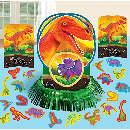 Dinosaurs ( Prehistoric Party ) Party Table Decorations Kit ( Centerpiece Kit ) 23 PCS - Kids Birthday and Party Supplies (Dinosaur Centerpiece)