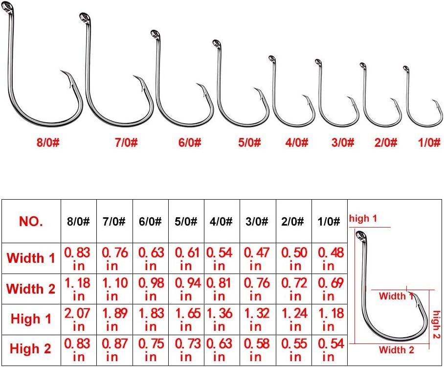 Fishing Hook with Leader Single Eagle Claw Hook Bottom Fishing Rig-10pcs Nylon Coated Fishing Wire Leader Rigs