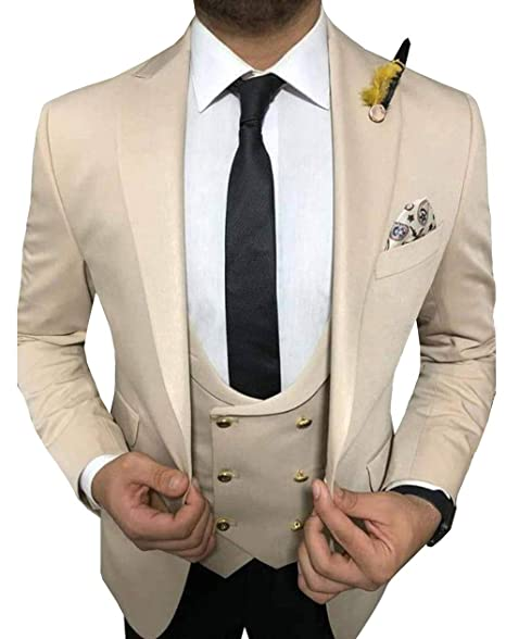 Amazon.com: Vincent Bridal - Traje formal para hombre de 3 ...