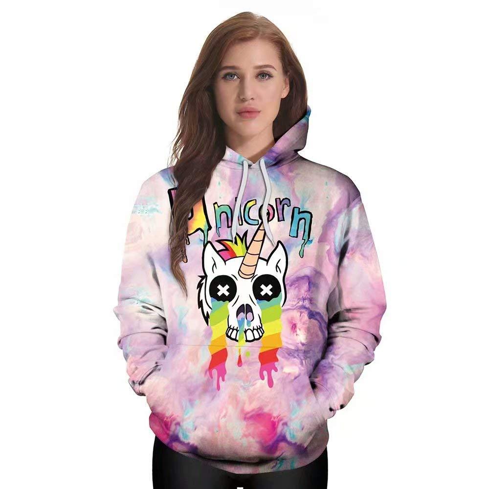 HARDKING Unicorn Hoodie- Animal Print Hoodie Unisex Sweatshirt Women and Men