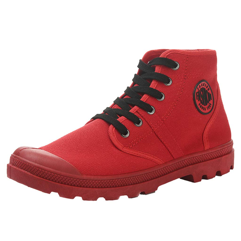 a89cd29525589 Amazon.com | Bralonees Pair of Canvas High Shoes Breathable Wild ...