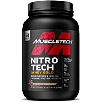 MuscleTech Nitro-Tech Whey Gold Protein Powder, Whey Isolate and Peptides, 24 Grams Protein, 5.5 Grams BCAAs, Gluten…