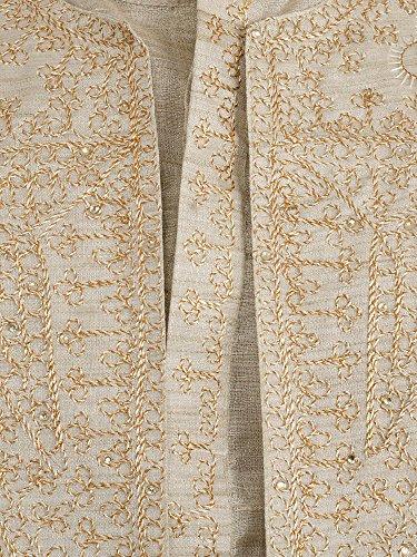 a228976eff1 Mens Kurta Pajama Sherwani Stole 4-Pieces Set Indian Pyjama Offwhite Wedding  Sherwani -S