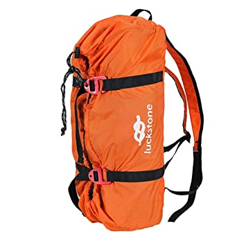 35d7cbf07611 FREAHAP R Climbing Rope Bag Climbing Gear Bag for Mountaineering Ice  Climbing Oxford Backpack with Rope Mat Orange