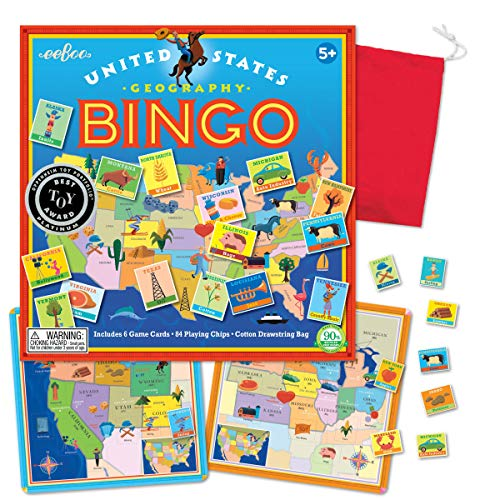 eeBoo United States Bingo Game for Kids