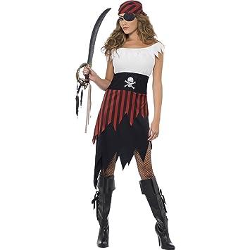 NET TOYS Disfraz de Novia del Pirata Traje corsario Mujer: Amazon ...