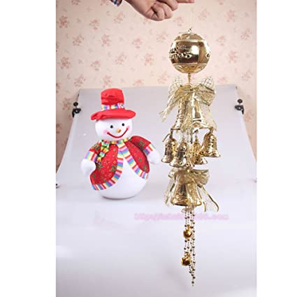 youzpin 65cm christmas bells decoration christmas tree decoration gifts gold to replace the door hung a