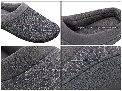 HomeTop - Zapatillas de estar por casa de forro polar para mujer gris claro
