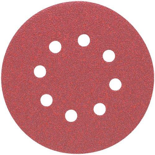 DEWALT DW4314 5-Inch 8 Hole 220 Grit Hook and Loop Random Orbit Sandpaper (25-Pack) Dewalt Sanding Disk