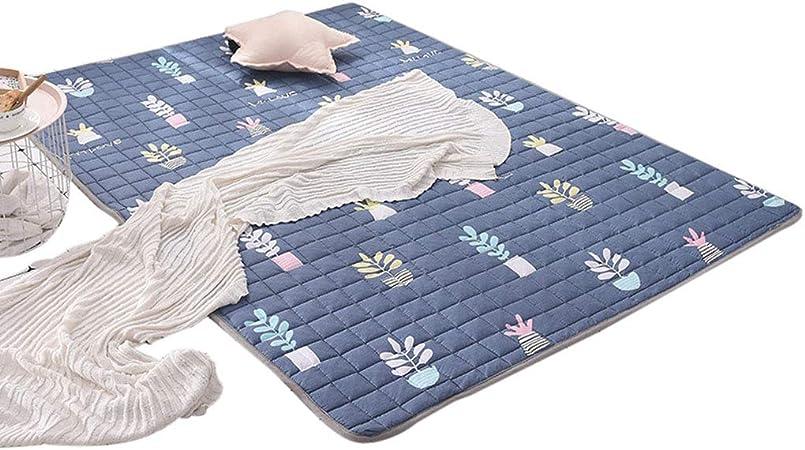Crawling mat Mena UK Colchoneta para BebéS, Tela De AlgodóN, Que Absorbe La Humedad, Textura Antirresbaladiza Trasera, Colchoneta De Juegos para NiñOs Lavable A MáQuina: Amazon.es: Hogar