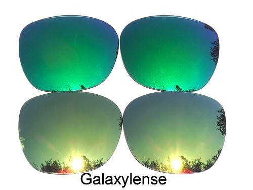 Galaxy lentes de repuesto para Oakley Garage Rock oro y verde Color Polarizados 2 Pares