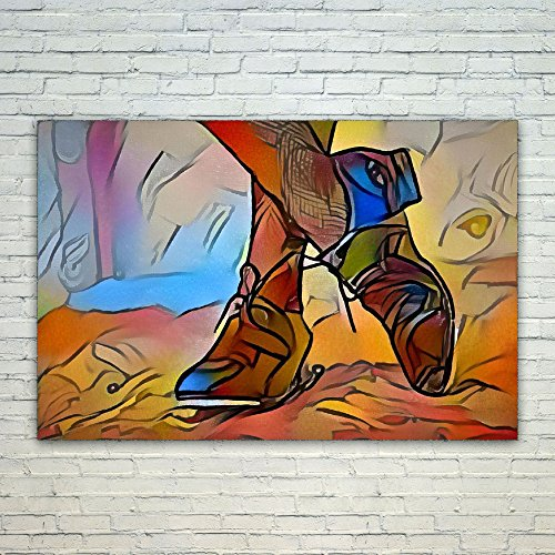 Westlake Art Shoe High - 24x36 Poster Print Wall Art - Abstr