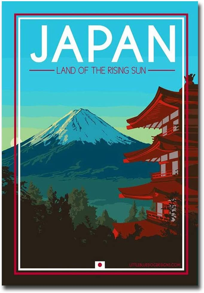"""Japan Mt Fuji Travel Vintage Art Refrigerator Magnet Size 2.5"""" x 3.5"""""""