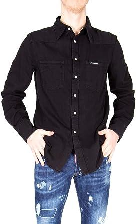 Calvin Klein Jeans Camisas de Manga Larga Hombre Medium Negro: Amazon.es: Ropa y accesorios