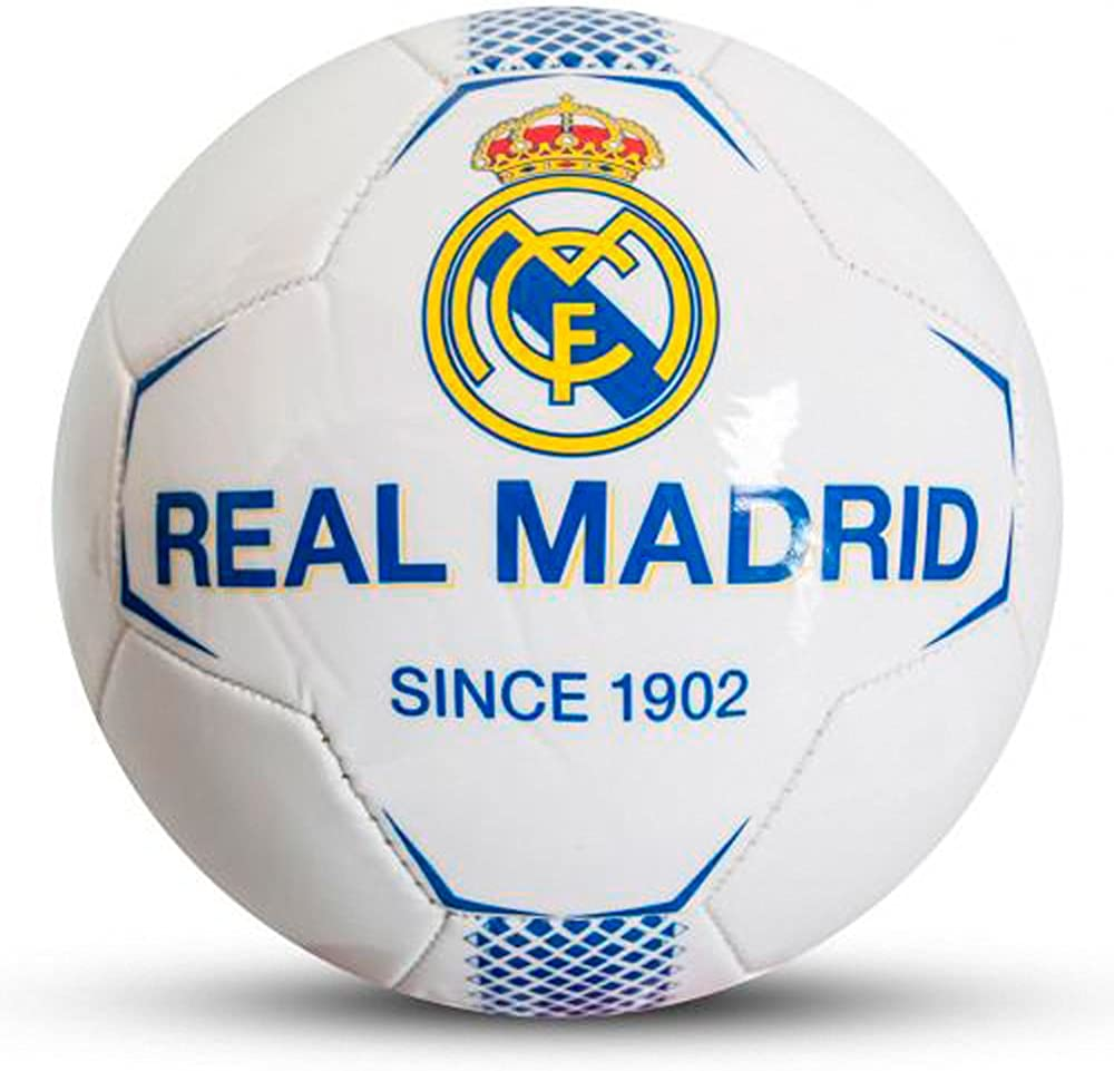 Real Madrid FC Since 1902 White Football Size 5 Faux Leather Ball ...