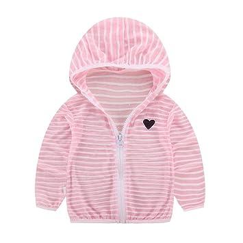 Everpert - Abrigo de Verano Transpirable con Capucha y Cremallera para niños y niñas, Pink,1-2T/Y, 1-2T/Y: Amazon.es: Deportes y aire libre