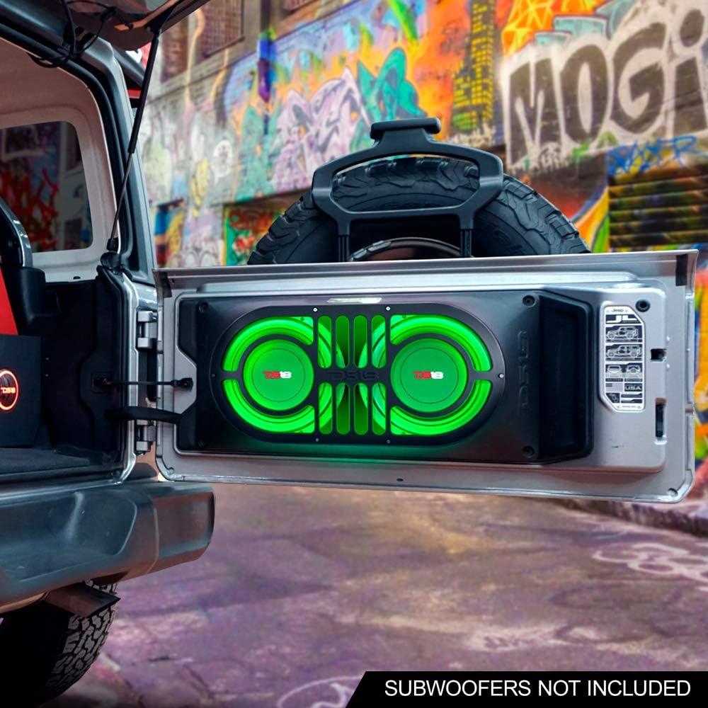JKU /& JL DS18 JBASS Jeep Wrangler JK Shalllow Subwoofer Unloaded 10 Enclosure Box 2007-2019