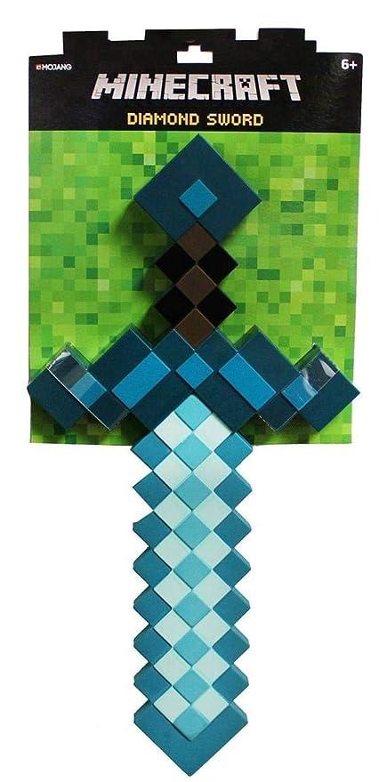 Minecraft Next Generation 3D Deluxe Diamond Sword – Foam Sword Replica from  The Minecraft Game