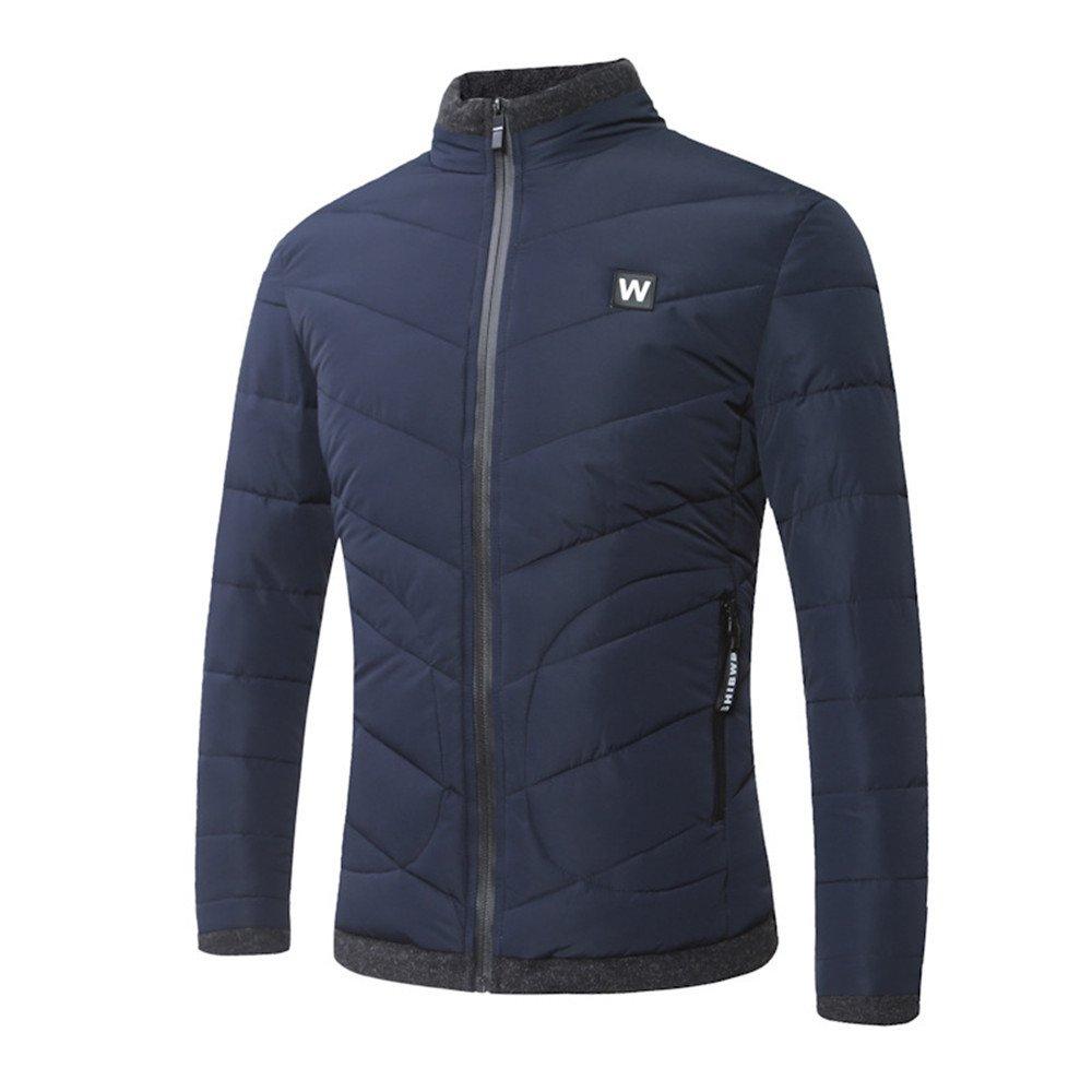 Hgfjn männer - Mode Casual Baumwolle gepolsterte Winter Mode Stimmen überein,Blau,XL