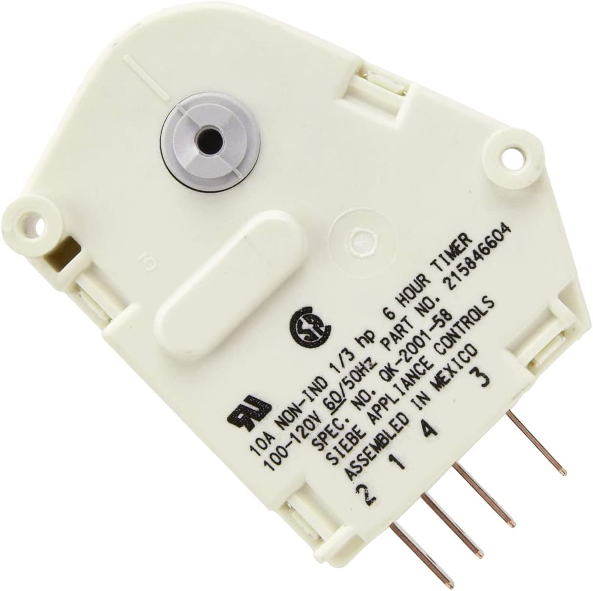 215846604 Refrigerator Defrost Timer Replacement Part by Romalon Compatible With Frigidaire & Kenmore Replace AP259290708003824, 08011620, 1748201