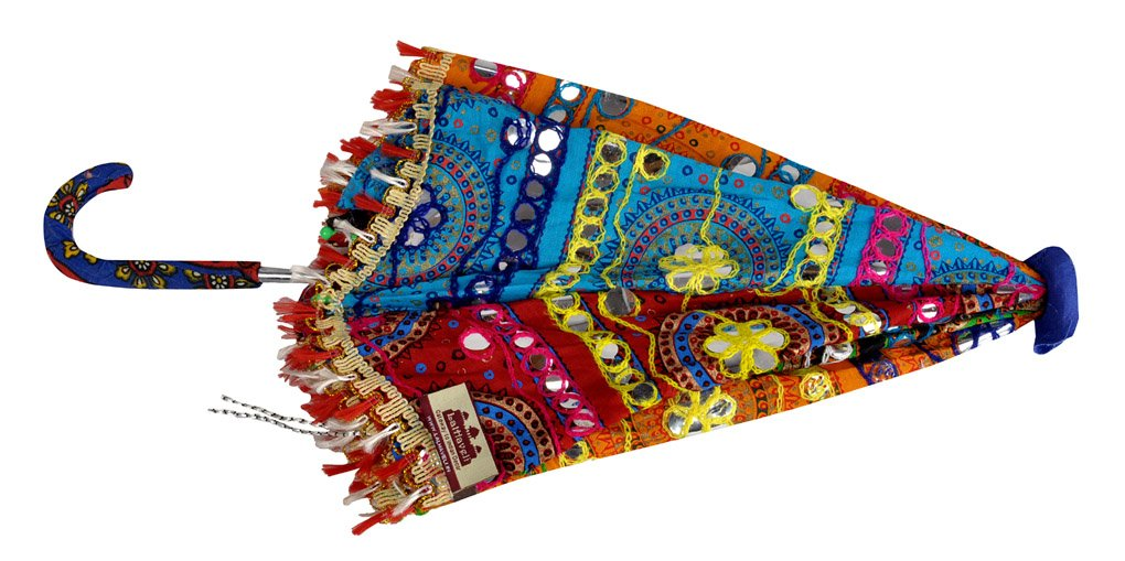 Indian Embroidery Work Design Sun Base Umbrella 21 x 26 Inch by Lal Haveli (Image #3)