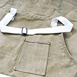 Durable Water Resistant Waxed Canvas Utility Full Apron Handmade by Hide & Drink