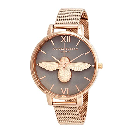 cf97a8076691 Olivia Burton 3D Bee Grey Dial Ladies Watch OB16AM117: Amazon.ca: Watches