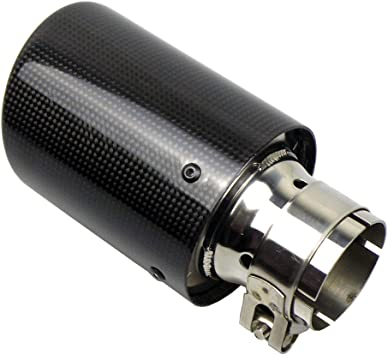 "2 X IN 3/"" 76MM OUT 4.5/"" 114MM Akrapovic Glossy Carbon Fiber pipe Exhaust Tip"