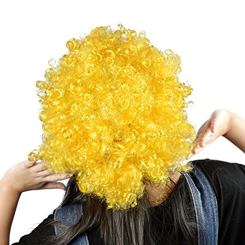 Vani� (Yellow Afro Clown Wig)