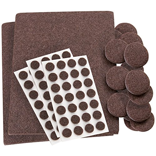 SoftTouch Self-Stick, Heavy Duty Furniture Felt Pads Combo Pack! Use on All Hard Surfaces - Large 102 Pieces Assortment in Various Sizes
