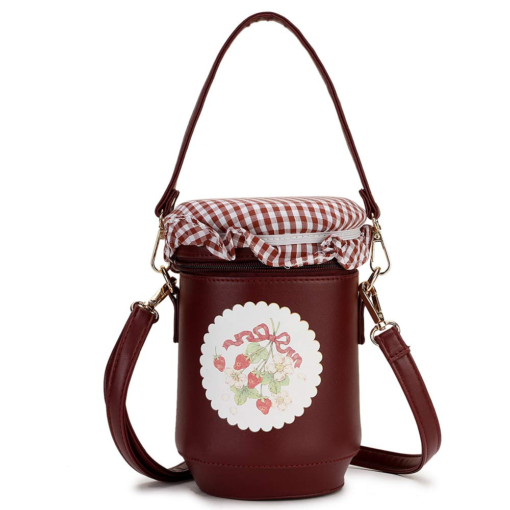 ویکالا · خرید  اصل اورجینال · خرید از آمازون · ENJOININ Fashion Cute Honeypot Design Pu Leather Handbag Fashion Women Shoulder Bag Crossbody Bag Purse Tote Bag wekala · ویکالا