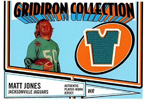 Unsigned Jersey Collection (Signed Jones, Matt (Jacksonville Jaguars) Matt Jones 2005 Topps Heritage Gridiron Collection Unsigned Football Jersey Card. autographed)
