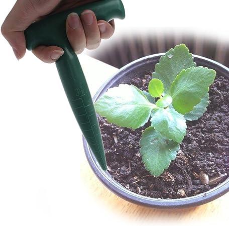 Green Dibber Garden Bonsai Flower Planting Weeding Digging Seedling Tool Kit ZT