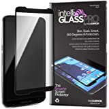Nexus 6 intelliGLASS PRO EDGE-TO-EDGE (Black) - The Smarter Glass Screen Protector by intelliARMOR To Guard Against Scratches and Drops. Ultra HD Clear, Max Touchscreen Accuracy.