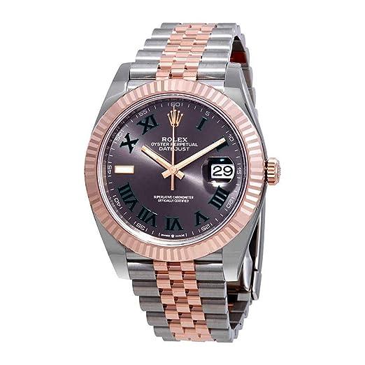 Rolex Datejust 41 - Reloj de Pulsera automático para Hombre de Acero y Oro de 18 K Everose Jubilee 126331GYRJ.: Amazon.es: Relojes
