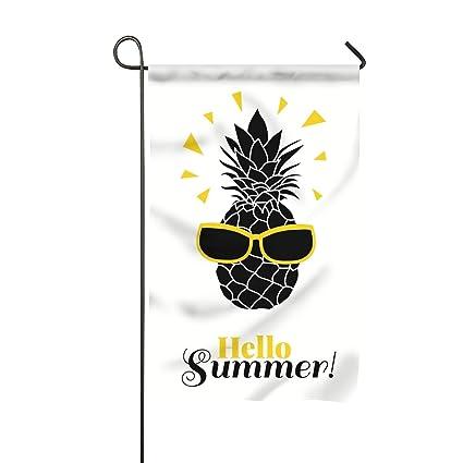 Amazon com : Hello Summer Pineapple Wearing Colorful