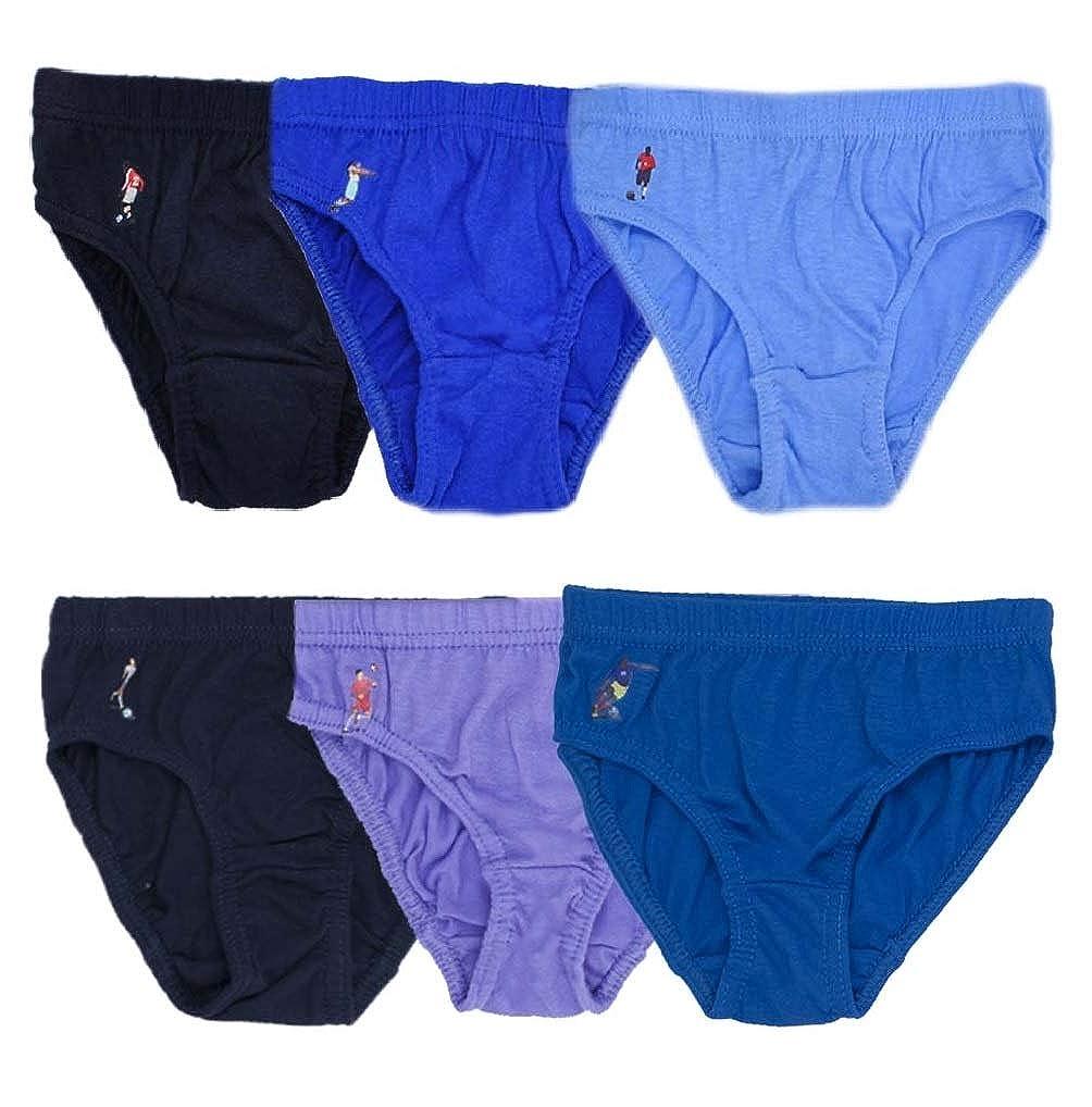 6er Pack Jungen Slips Kinder Unterhosen mit Fu/ßball Motiv