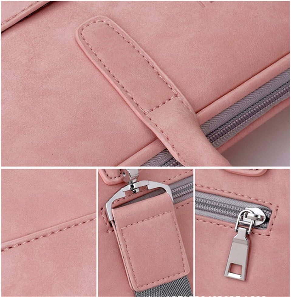 Moda de cuero de la bolsa del ordenador port/átil de las mujeres 13 13.3 14 15 15.6 17 17.3 pulgadas de cuero de la PU bandolera de la bandolera rosa negro rojo rosa Pink Luxury 13.3 inch pulgadas