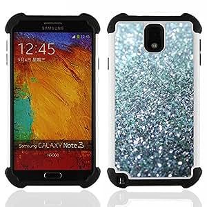 - glitter silver sparkling bling platinum - - Doble capa caja de la armadura Defender FOR Samsung Galaxy Note3 N9000 N9008V N9009 RetroCandy
