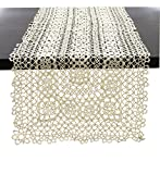 "Fennco Styles Handmade All-over Tatting Lace Table Runner 100% Cotton (16""x36"" Runner, Ecru)"