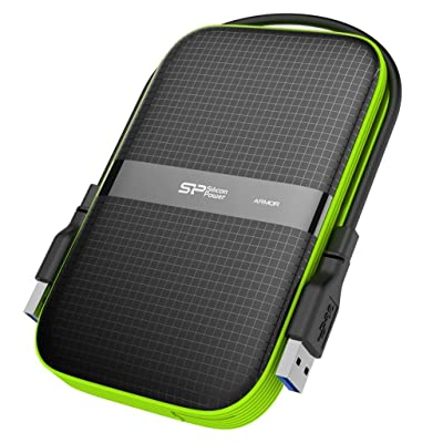 Silicon Power 1TB Black Rugged Portable External Hard Drive HDD Armor A60