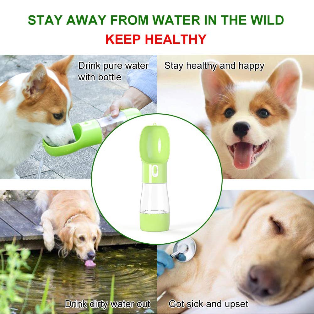 Dog Water Bottle Upgraded Pet Water Bottle Lightweight Dog Travel Water Bottle 2.76 Big Trough Leak Proof Pet Drinking Bottle Drink Cup for Walking Travel Hiking