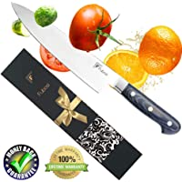 Fubosi Chef Knife, Kitchen Knives 8 Inch Stainless Steel Full Tang Blade with Ergonomic Handle Storage Case Razor Sharp No Rust Best Choice for Home Kitchen and Restaurant