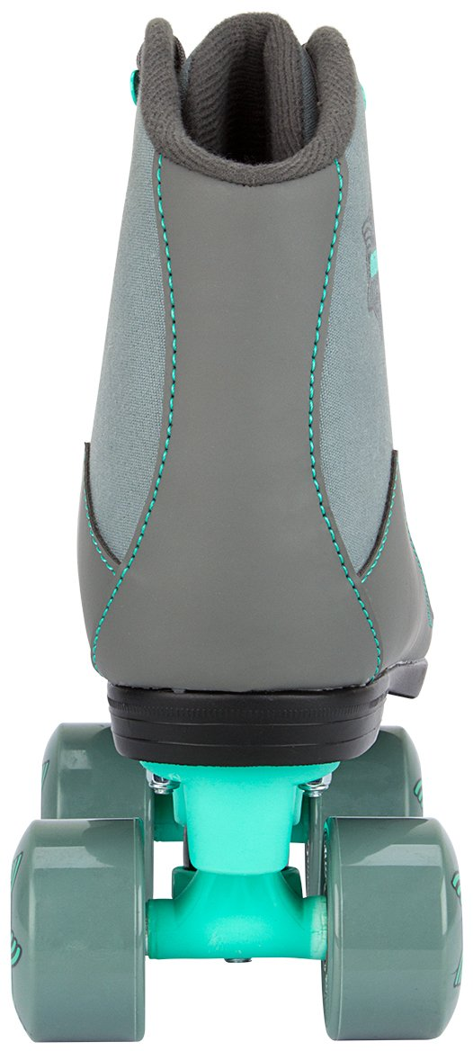 Nijdam Unisexs 52RG Canvas Rambler Roller Skates One Size Grey//Anthracite//Mint Green
