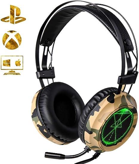 Cuffie Gaming per PS4 XTRIKE Cuffie Gaming con microfono Illuminazione a LED Cuffie da Gioco Cancellazione del Rumore