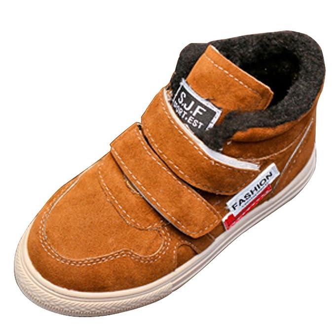 YanHoo Zapatos para niños Zapatos de Terciopelo para niños más cálidos Zapatos Casuales Niños Moda Entrenadores Zapatilla de Deporte Invierno Gruesa Nieve ...
